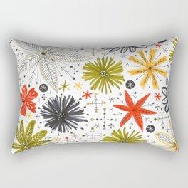 funky floral print Rectangular Pillow
