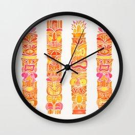 Tiki Totems – Orange Ombré Wall Clock
