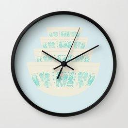 Butterprint Pyrex Wall Clock
