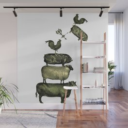 Farm Living - Stacked Animals Wall Mural