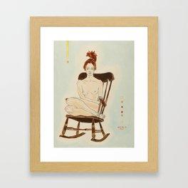 Yana in the Rocking-Chair Framed Art Print