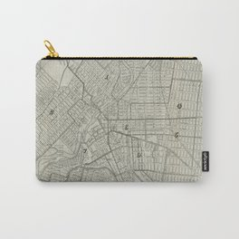 Vintage Map of Paterson NJ (1920) Carry-All Pouch