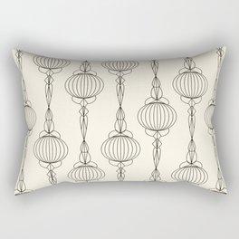 Art Deco No. 50 . Christmas decorations . Rectangular Pillow