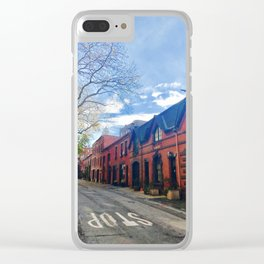 STOP For Brooklyn Heights Brownstone Red Brick Love Clear iPhone Case