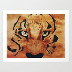 Tiger Watercolor Art Print