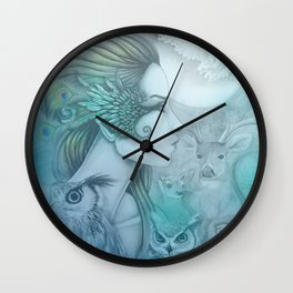 Spirit of Artemis 2 Goddess Art Wall Clock