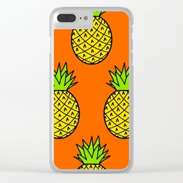 Tropical Pineapple Pattern Clear iPhone Case