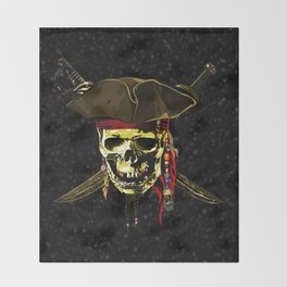 The Dark Eyes Of Pirates Throw Blanket