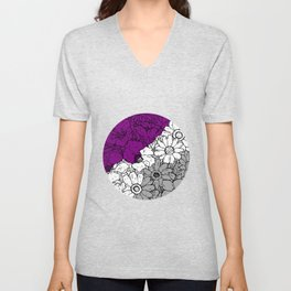 Asexual flowers Unisex V-Neck
