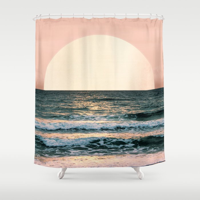 Summer Sunset Shower Curtain By Cascadia