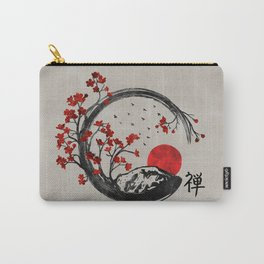 Zen Enso Circle and Sakura Branches Carry-All Pouch