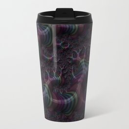Branching Rainbow Fractal Travel Mug