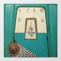 transistor Canvas Prints featuring Vintage Transistor Radio  by Crash Pad Designs