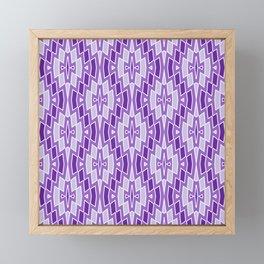 Diamond Pattern in Purple and Lavender Framed Mini Art Print