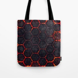 Lava Hexagons Tote Bag