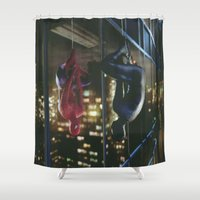 venom Shower Curtains featuring Spider-Man and Venom by Kelsey