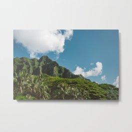 Hawaiian Mountain Metal Print