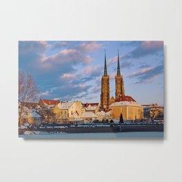 Wrocław Cathedral Metal Print