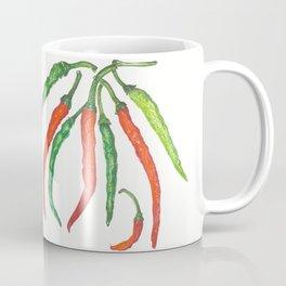 Watercolor Hot Peppers Coffee Mug