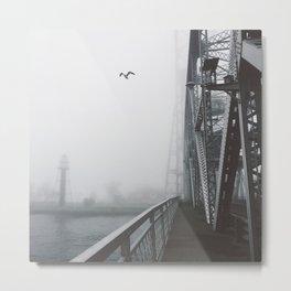 Lift Bridge on Lake Superior Metal Print