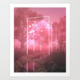 Pinky Paths Art Print
