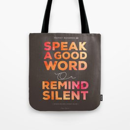 Remind Silent Tote Bag