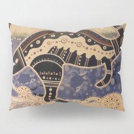 Kangaroo mural Pillow Sham