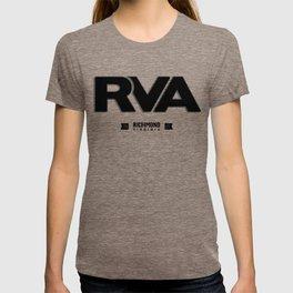 "Rva Logo - Black | "" Striped Outline "" T-shirt"