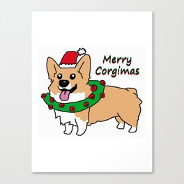 Merry Corgimas Canvas Print