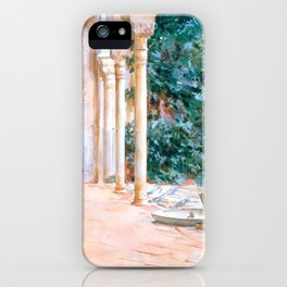 "John Singer Sargent ""Loggia, View at the Generalife"" iPhone Case"
