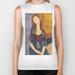 Jeanne Hebuterne woman portrait by Amedeo Modigliani Biker Tank