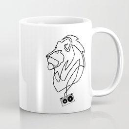 Lion Tape Art Coffee Mug