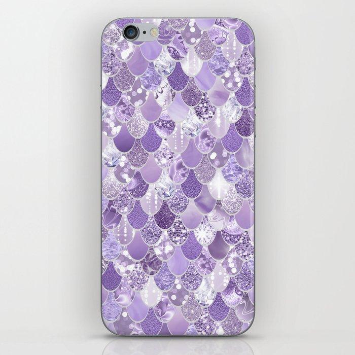Mermaid Art, Cute Purple, Fun Bathroom Art iPhone Skin