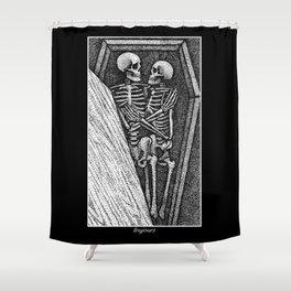 Toujours - Skeleton Lovers Shower Curtain