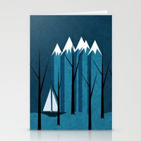 sailing Stationery Cards featuring Sailing by Illusorium