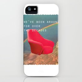 We've been around for over two decades (Red chair and the Grand Canyon) iPhone Case
