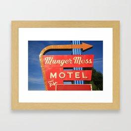 Route 66 - Munger Moss Motel 2010 Framed Art Print