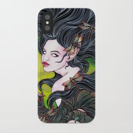 Queen of dragonflies iPhone Case
