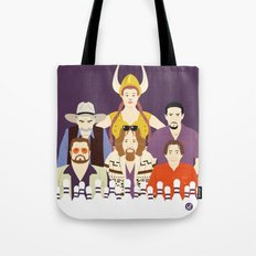 Around The Dude (Faces & Movies) Tote Bag