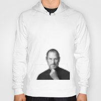 steve jobs Hoodies featuring Steve jobs by Angelina Fenty