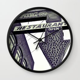 Classic Googie Sign Wall Clock