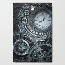 Silver Steampunk Clockwork Cutting Board