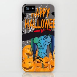 Bats & Witch Happy Halloween iPhone Case