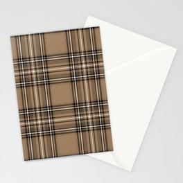 Coffee and Cream Tartan Stationery Cards