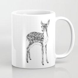 Ink drawing of a fawn Coffee Mug
