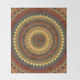 Earth Mandala 6 Throw Blanket