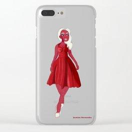 Red Velvet Girl Clear iPhone Case