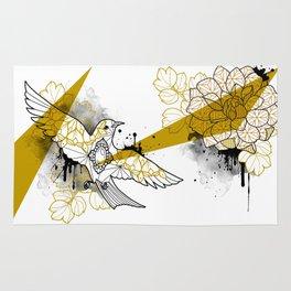 flower and bird Rug