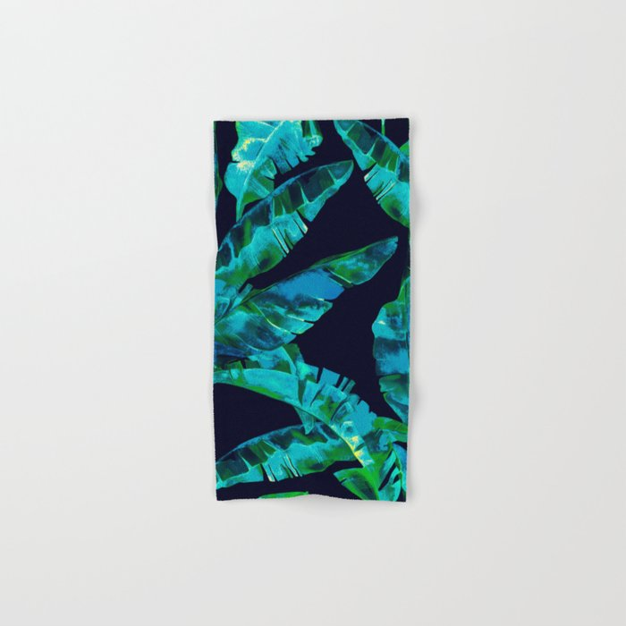 Tropical addiction - midnight grunge Hand & Bath Towel