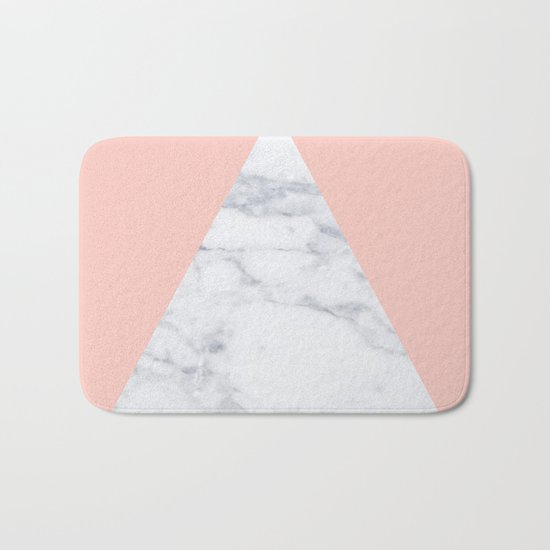 Blush marble triangle Bath Mat